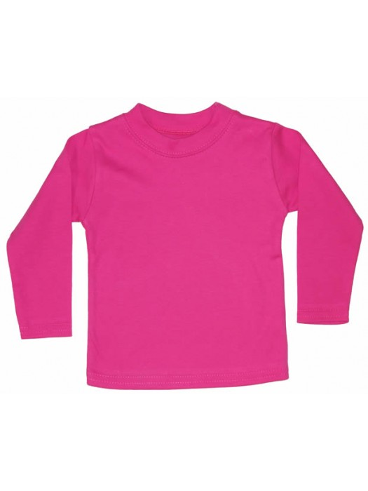 Plain Cerise Long Sleeve T-Shirt (avail. 3m - 6yrs)